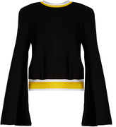 Ellery Immortal bell-sleeved cotton-jersey sweatshirt