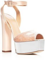 Giuseppe Zanotti Lavina High Heel Metallic Platform Sandals