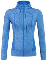 Senchanting Women's Workout Full Zip Yoga Sweatshirts Slim Hoodie Gym Jacket(,S)