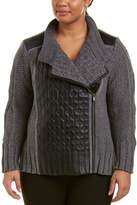 Nic+Zoe Plus Leather-Trim Cable Jacket