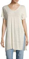 Eileen Fisher Linen-Blend Short-Sleeved Tunic