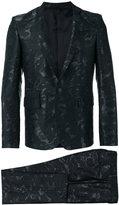 Les Hommes jacquard suit - men - Cotton/Polyester/Acetate - 46