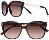 Lauren Conrad 56mm Mallard Modified Cat-Eye Gradient Sunglasses