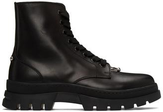 Neil Barrett Black Pierced Punk Lace-Up Boots