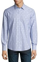 Zachary Prell Tonal Dot-Print Long-Sleeve Sport Shirt, Light Blue