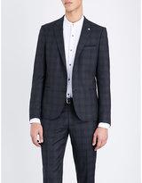 The Kooples Checked Slim-fit Wool Jacket