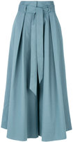 Temperley London tie waist culottes - women - Cotton/Spandex/Elastane - 4