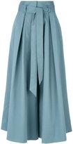 Temperley London tie waist culottes - women - Cotton/Spandex/Elastane - 8