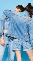 Esprit RETRO COLLECTION: Logo denim jacket