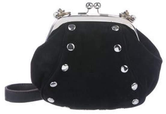 Marni Suede Crossbody Bag Black Suede Crossbody Bag