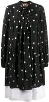 No.21 star print poplin midi-dress