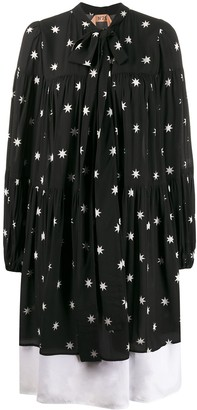No.21 Star Print Poplin Midi-Dress