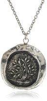 "Pyrrha talisman"" Sterling Silver Fidelity Necklace"
