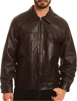 JCPenney Excelled Leather Excelled Lambskin Leather Bomber-Big & Tall