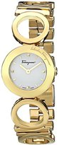 "Salvatore Ferragamo Women's FP5990014 ""Gancino"" Yellow Gold Ion-Plated Stainless Steel Watch with Link Bracelet"