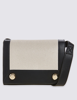 M&S Collection Faux Leather Stud Shoulder Bag