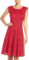 Chetta B Sparkle Lace Fit & Flare Dress