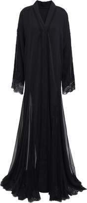 Dolce & Gabbana Lace-trimmed Silk-blend Crepe And Chiffon Gown