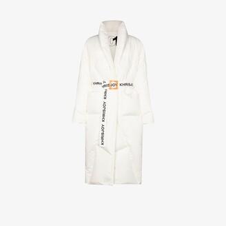 KHRISJOY Robe belted puffer coat