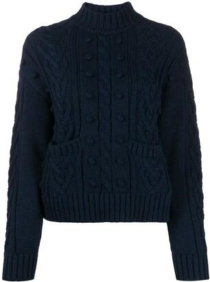 Philosophy di Lorenzo Serafini Cable Knit Wool Jumper