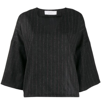 Societe Anonyme Striped Flared Top