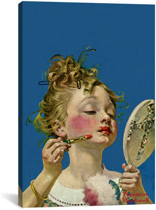 Rockwell icanvasart Icanvas Little Girl With Lipstick By Norman