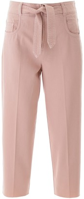 Pinko Belted Straight-Leg Jeans