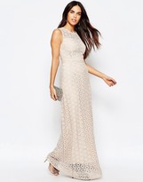 Warehouse Mix Lace Maxi Dress