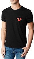 True Religion Men's Puff Logo Tee Shirt, Ruby Red, X-Large