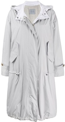 Malo Oversized Drawstring Raincoat