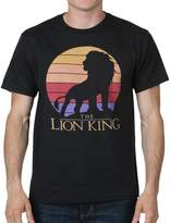 Mighty Fine Lion King Profile Mens Black T-Shirt (Small)
