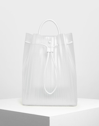 Charles & Keith Translucent Drawstring Backpack