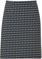 Marine Blue Geometric Woven skirt