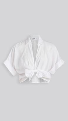 Stateside Linen Front Tie Top