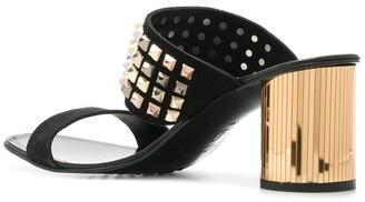 Pedro Garcia Studded Embellished Heel Sandals