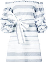 Alexis ruffled bardot dress - women - Cotton/Polyamide - M