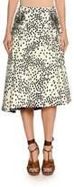 No.21 No. 21 Printed Embellished Midi Swing Skirt