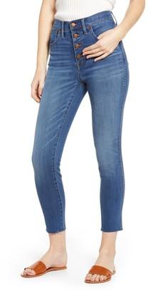 Madewell High Waist Button Front Crop Skinny Jeans (Regular & Plus Size)