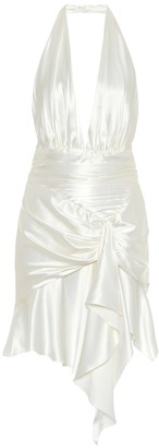Alexandre Vauthier Stretch-silk satin mini dress
