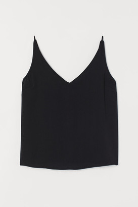 H&M V-neck Camisole Top - Black