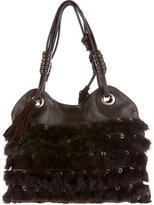 Hogan Fur & Suede Shoulder Bag