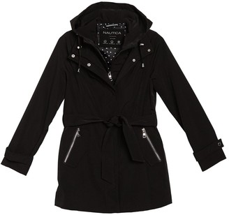 Nautica Belted Hooded Jacket