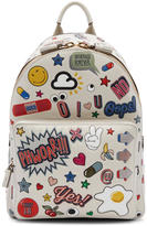 Anya Hindmarch Off-White Mini All-Over Stickers Backpack