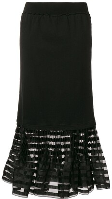 J.W.Anderson pleated hem skirt