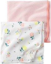 Carter's Baby Girl Swaddle Floral Blanket Set