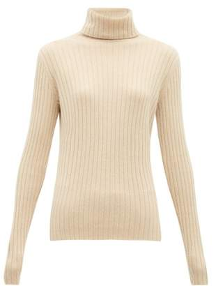 Allude Roll-neck Cashmere Sweater - Womens - Beige
