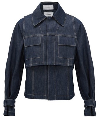 Bianca Saunders - Layered Denim Jacket - Mens - Navy