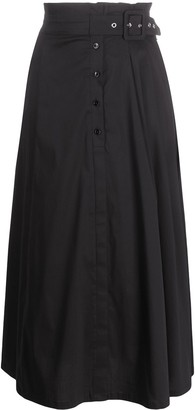 Patrizia Pepe Paperbag-Waist Flared Skirt
