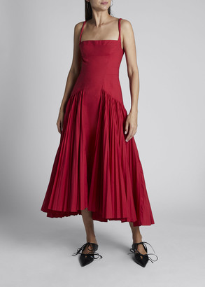 Proenza Schouler Poplin Pleated Maxi Dress