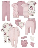 Gerber Modern Moments By Modern Moments by Baby Girl Baby Shower Layette Gift Set, 15pc